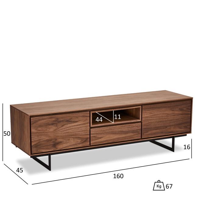 TV Bord i Valnød - 160 cm