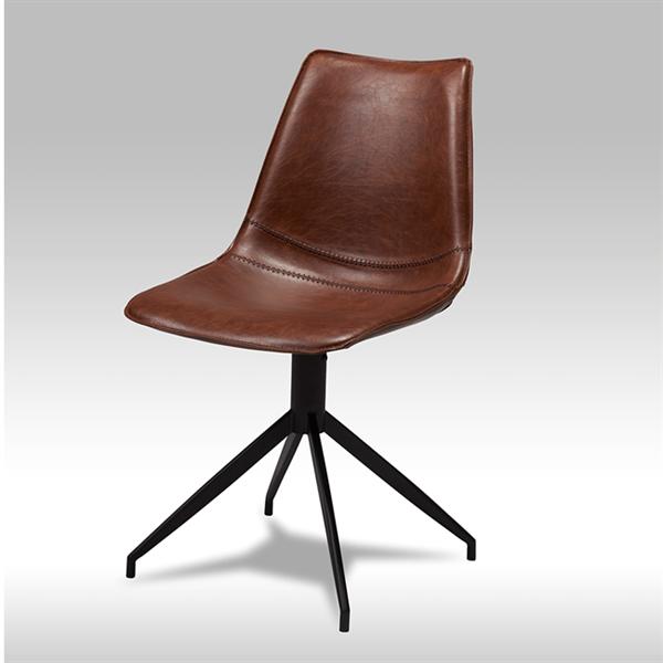 Spisebordsstol med drejefunktion - Cognac farvet