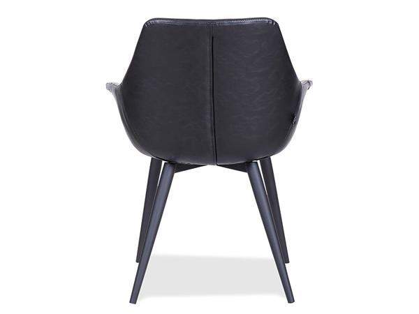 Spisebordsstol - Sort læder