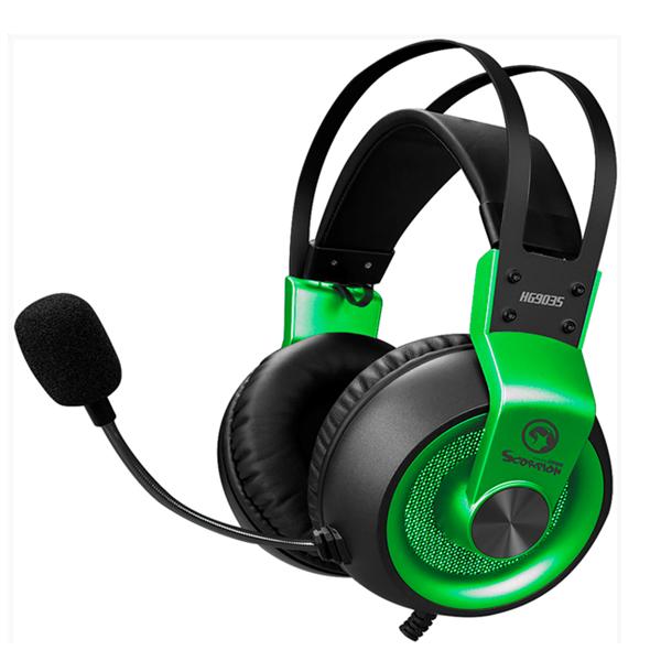 Gamer hovedtelefon - LED - Microfon