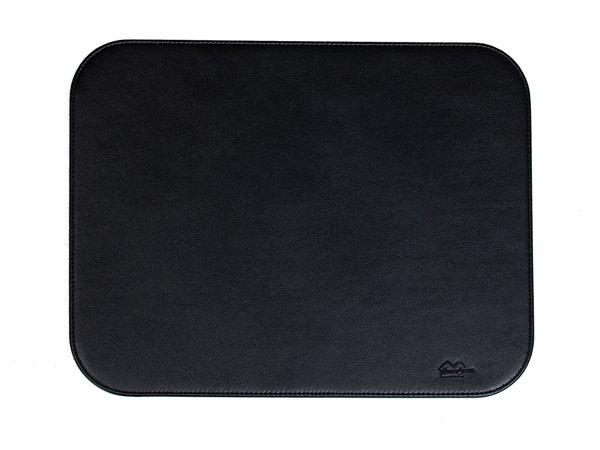 Dækkeservietter - Kvadrat - Glat - Sort læder